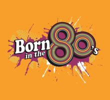 """Born in the 80's"" ladies multi-pink logo tee by Sarah Trett"