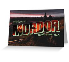 Welcome to Mordor Greeting Card