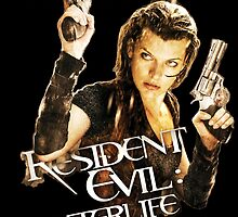 Milla Jovovich Resident Evil Afterlife (Print) by f3mal3s