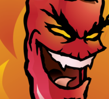Evil red hot chili pepper Sticker