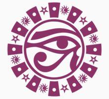 Eye of Horus with Sun, Moon & Stars T-Shirt by TropicalToad