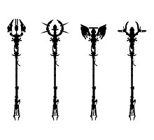 Elemental Staffs [CoD Zombies] Photographic Print