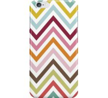 Zigzag (Chevron), Stripes, Lines - Green Blue Pink iPhone Case/Skin