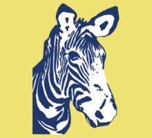 Zebra - Pop Art Graphic T-Shirt (blue) Kids Clothes