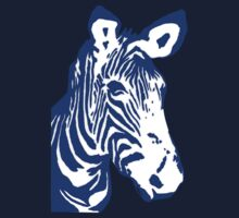 Zebra - Pop Art Graphic T-Shirt (blue) by BlueShift