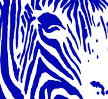Zebra - Pop Art Graphic T-Shirt (blue) Sticker
