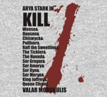 Arya Death List by qindesign