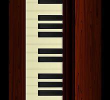 Vintage Wood Piano by umamaheswararao