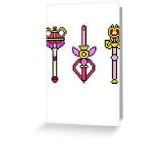 Pixel Sailor Moon Wands Greeting Card