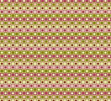 Shades of Pinks & Greens Checkered Pattern Design by Mercury McCutcheon