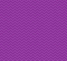 Zigzag (Chevron), Stripes, Lines - Purple by sitnica