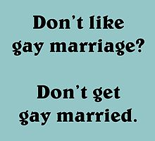Gay marriage (Black) by supalurve