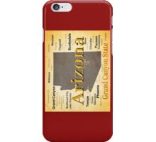 Aged Arizona State Pride Map iPhone Case/Skin