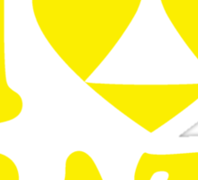 I Heart Brazil Sticker