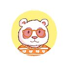 Hipster panda bear  by olarty