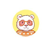 Hipster panda bear  Photographic Print