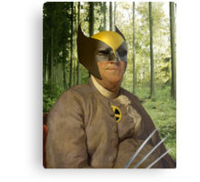 Wolverine + Ben Franklin Mash Up Metal Print