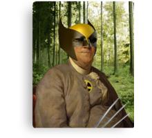 Wolverine + Ben Franklin Mash Up Canvas Print