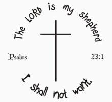 PSALMS 23:1 T-Shirt