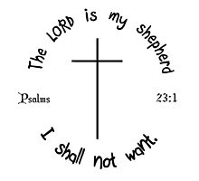 PSALMS 23:1 by tshirtchristian