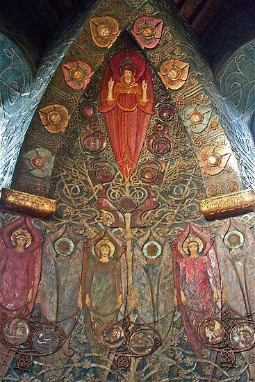 Watts Chapel ( part of interior) by John Thurgood