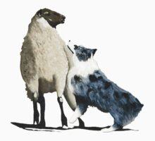 "Australian Shepherd ~ ""One Tough Sheepdog"" painting Kids Clothes"