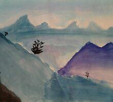 Watercolor Landscape by cmoartist2012