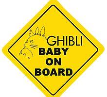Ghibli Baby On Board by addycatbug