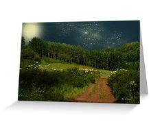 Hazy Moon Meadow Greeting Card