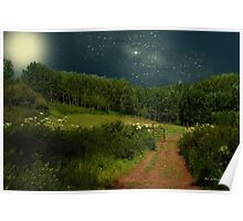 Hazy Moon Meadow Poster