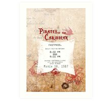 Pirates of the Caribbean- Fastpass Art Print
