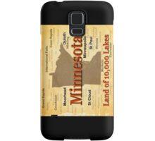 Aged Minnesota State Pride Map Samsung Galaxy Case/Skin