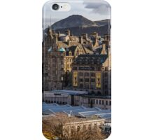 The old town from Princes street iPhone Case/Skin