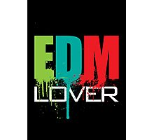 EDM (Electronic Dance Music) Lover (Black) Photographic Print