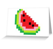 Minecraft Watermelon Greeting Card