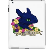 Flower Toothless iPad Case/Skin