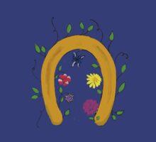 Lucky blooming horseshoe  by JoAnnFineArt
