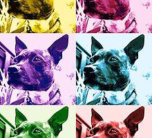 Multi-colour Staffie by Nicola Morse