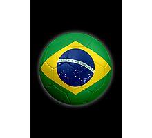 Brazil - Brazilian Flag - Football or Soccer 2 Photographic Print