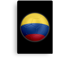 Columbia - Columbian Flag - Football or Soccer 2 Canvas Print