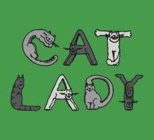 Cat Lady - Cat Letters - Grey Kids Clothes