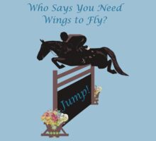 Who Needs Wings to Fly Horse T-Shirt, iPad & iPhone Case by Patricia Barmatz