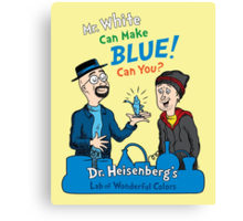 Mr. White Can Make Blue! Canvas Print