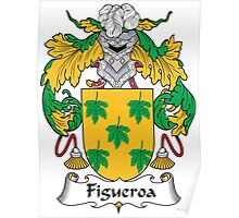 Figueroa Coat of Arms (Spanish) Poster