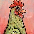 Green Rooster by Cindy Schnackel