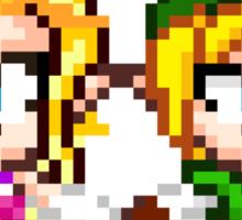 Link and Zelda In Love - Pixel Art Sticker