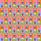 Pop art skulls by rlnielsen4