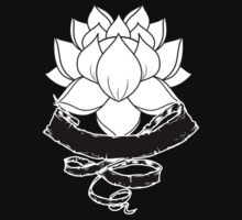 Lotus With Ribbon - Black by Sarah Ball (TheMaggotPie)