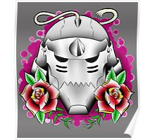 traditional alphonse elric helmet Poster