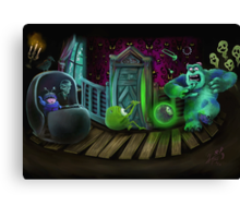 Haunted Monsters Inc Canvas Print